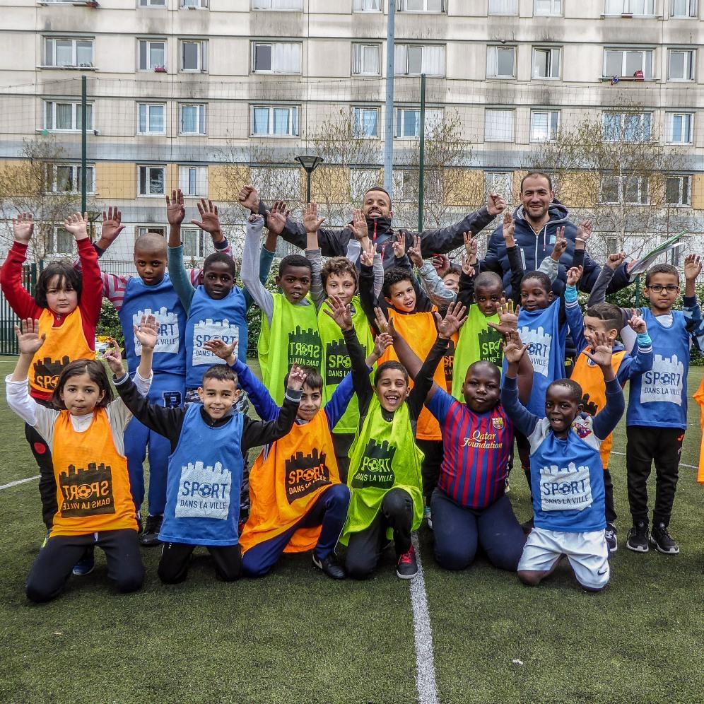 Team entrainement Sport dans la ville