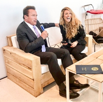 Cyrielle Hariel Arnold Schwarzenegger