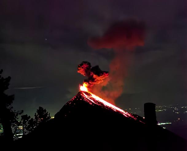 Fuego Eruption Guatemala