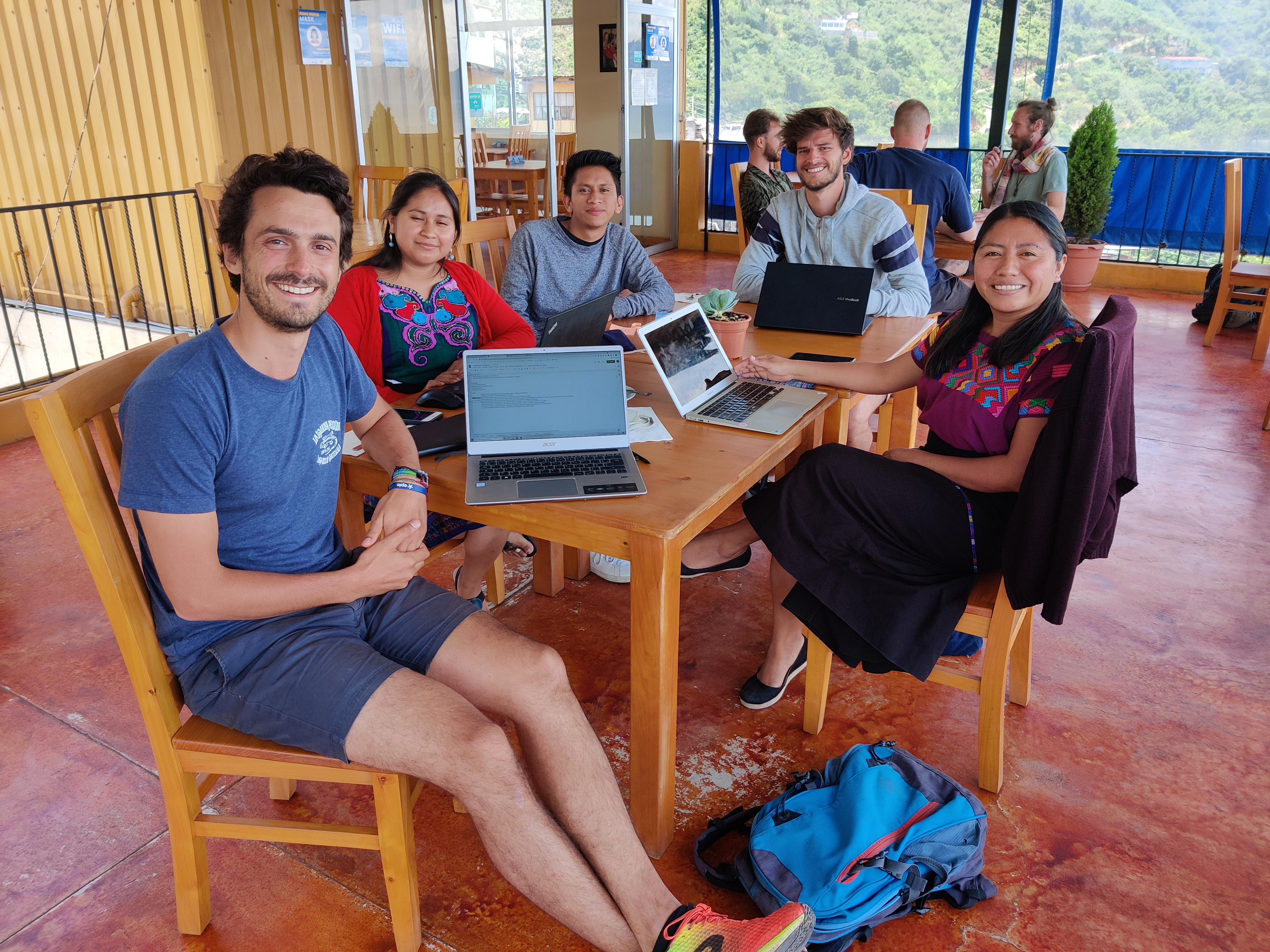 Romain Sion Working session Los amigos de Santa Cruz project Guatemala