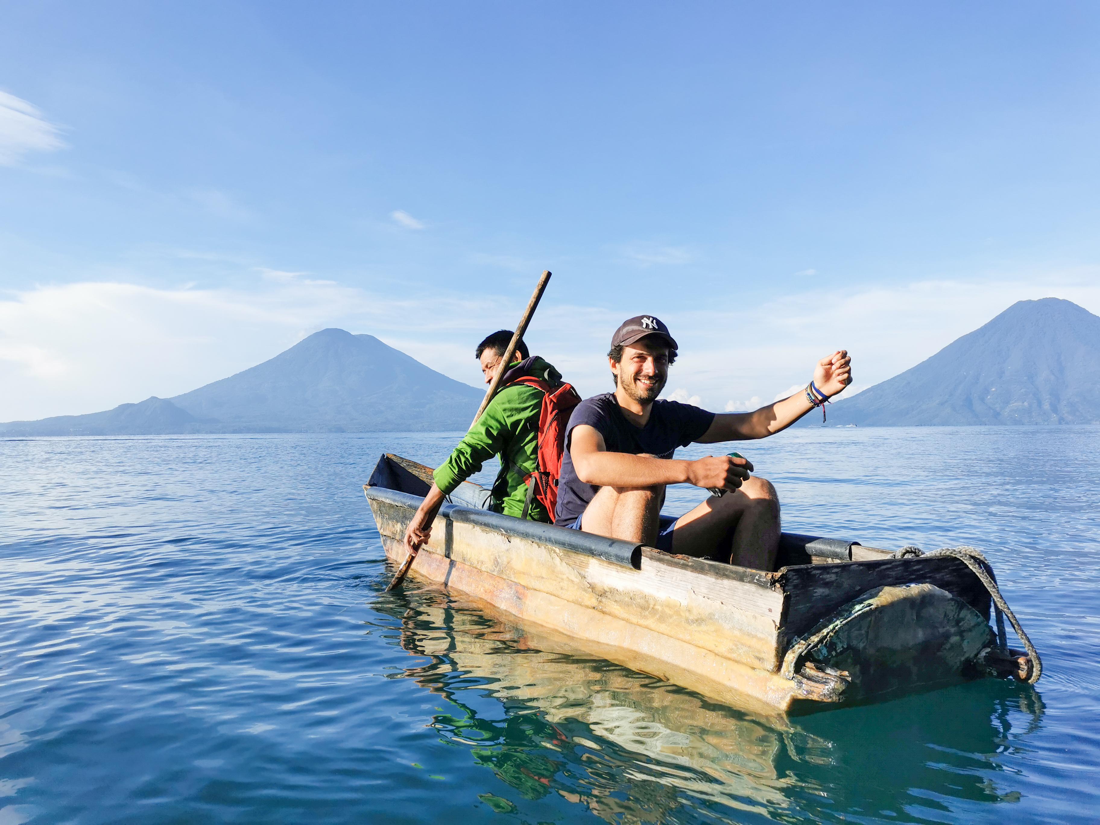 Romain Sion fisherman Santa Cruz Guatemala