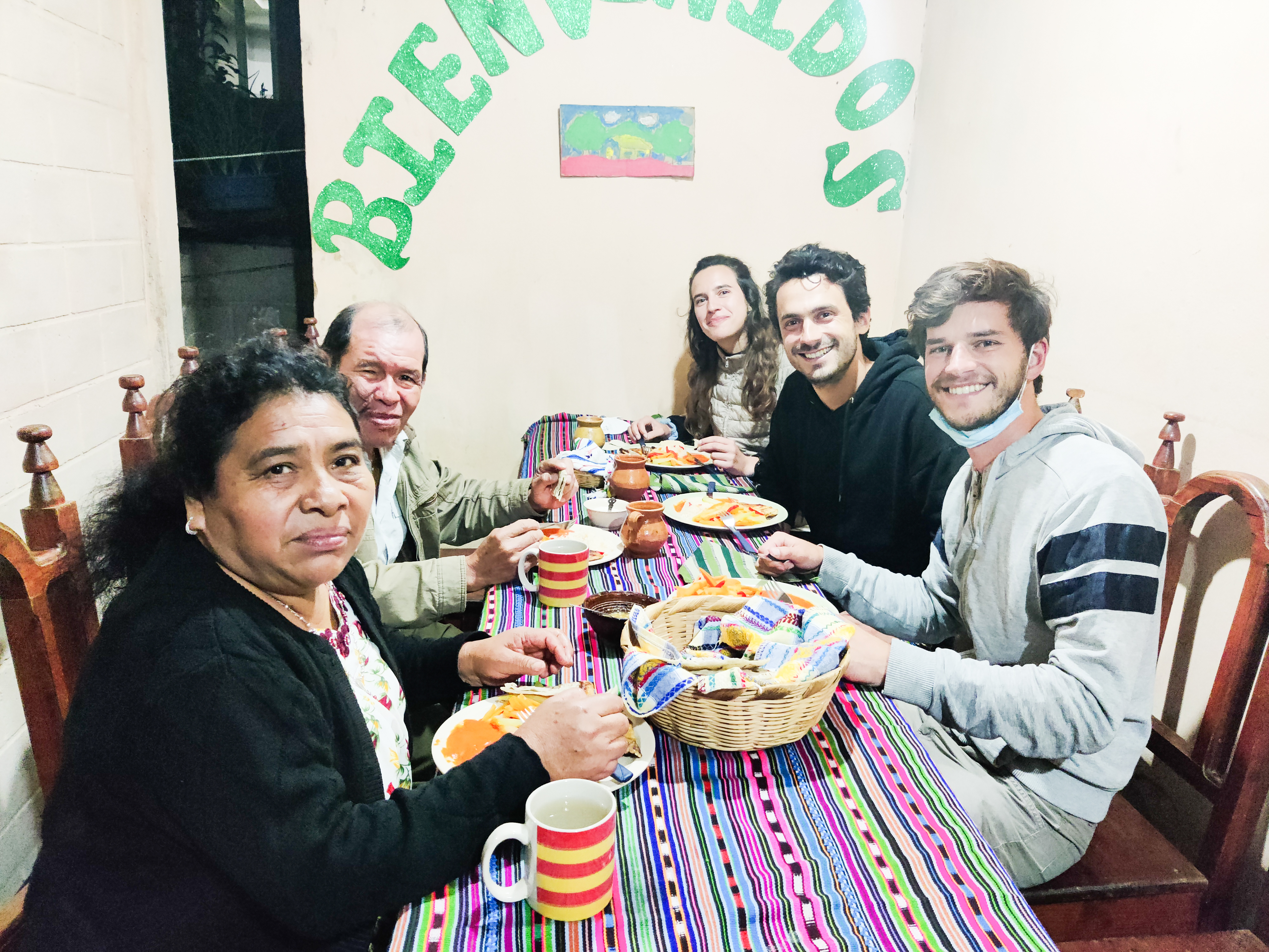 Dinner Guillermo and Lola Romain Sion Guatemala